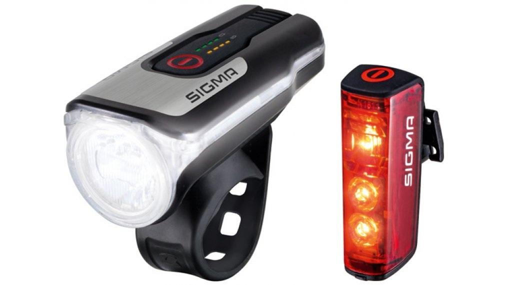 Sigma Sport Aura 80 USB/Blaze RL LED lighting system- set black
