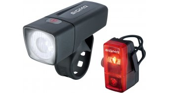 Sigma Sport Aura 25/Cubic LED Beleuchtungs-Set schwarz