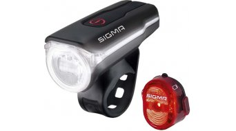 Sigma Sport Aura 60 USB/Nugget II LED Beleuchtungs-Set schwarz
