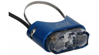 SON rear light for seat post blue/clear