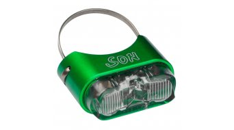 SON rear light for seat post bright green/clear