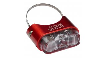 SON rear light for seat post red/clear