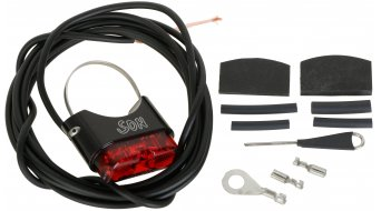 SON rear light for seat post black/red