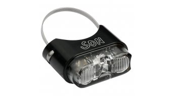 SON rear light for seat post black/clear