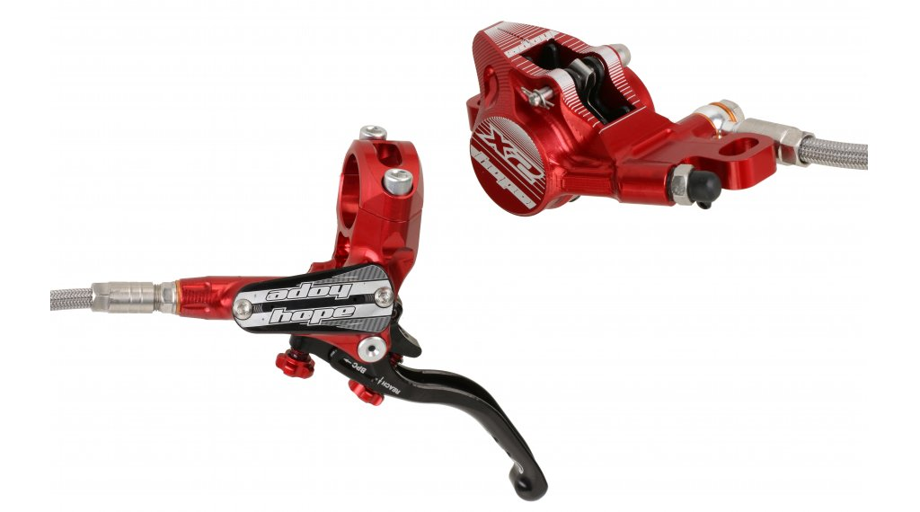 Brand New Front with Braided Hose Brake Hope Tech 3 X2 Red Left