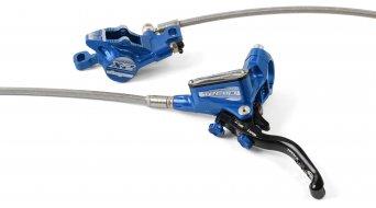 Hope Tech 3 X2 Blue Edition Stahlflex kotoučová brzda sada kolo (bez kotouče a adaptéru)