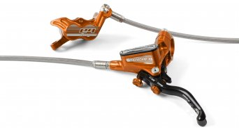 Hope Tech 3 E4 Orange Edition set freno a disco con tubi aeronautici (senza disco e adattatore)
