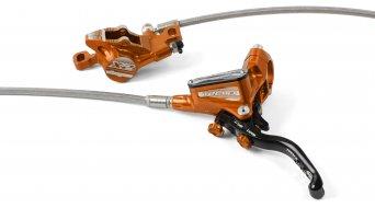 Hope Tech 3 X2 Orange Edition Stahlflex kotoučová brzda sada kolo (bez kotouče a adaptéru)