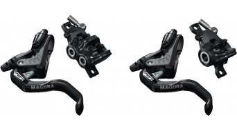 Magura MT Trail Sport Carbotecture disc brakes- set front wheel-PM/rear wheel-PM left/right mountable (without disc & adapter) black/mystic grey 2019