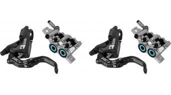 Magura MT T HC3 Carbotecture SL sada pro kotoučovou brzdu přední kolo a zadní kolo (bez kotouč/e & adaptér) černá/chróm/mintgrünen model 2018