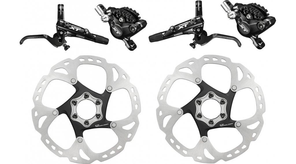 Shimano XT M8000 MTB Disc Brake Set Front/&Rear Resin Pad W//Ice-Tech Cooling Fin