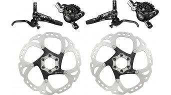Shimano XT M8000/SM-RT86 disc brakes- set black front (J02A Resin-pad)