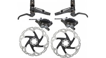 Shimano Zee M640-B Scheibenbremsen-Set VR 203mm PM / HR 203mm PM (F03C Metall-Belag)