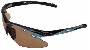 AX Lightness Futuro Brille schwarz/blau / black-mirror Gläser