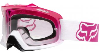 Fox Air Space MX-Goggle hot pink-blanco fade/clear