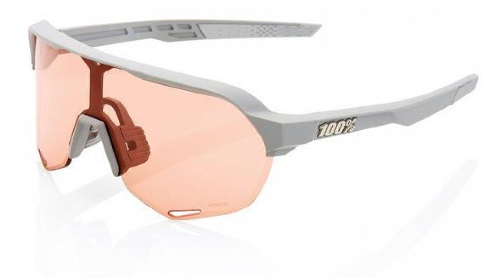 100% S2 Hiper Occhiali da sole da ciclismo mis. unisize soft tact stone grigio (Mirror-lens)