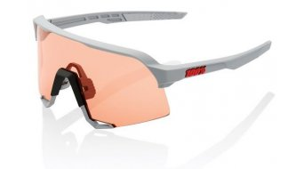 100% S3 sunglasses unisize soft tact stone grey (Hiper Mirror-lens)