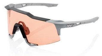100% Speedcraft HD Multilayer Sportbrille Gr. tall soft tact stone grey(Hiper-lens)