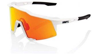100% Speedcraft HD Multilayer Sportbrille Gr. tall off white Hiper red (Hiper-lens)