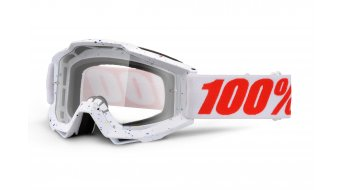100% Accuri Goggle skylar blanco (Anti-Fog Clear Lens)