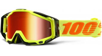 100% Racecraft Goggle attack yellow (Anti-Fog Mirror Lens)