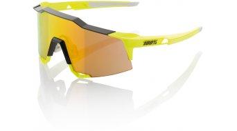 100% Speedcraft Sport gafas long-lens (STD) color neón amarillo (mirror-lens)