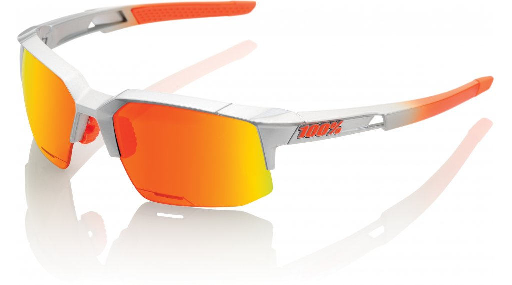 100% Speedcoupe HD Multilayer Sportbrille arc-light (red Hiper-lens)