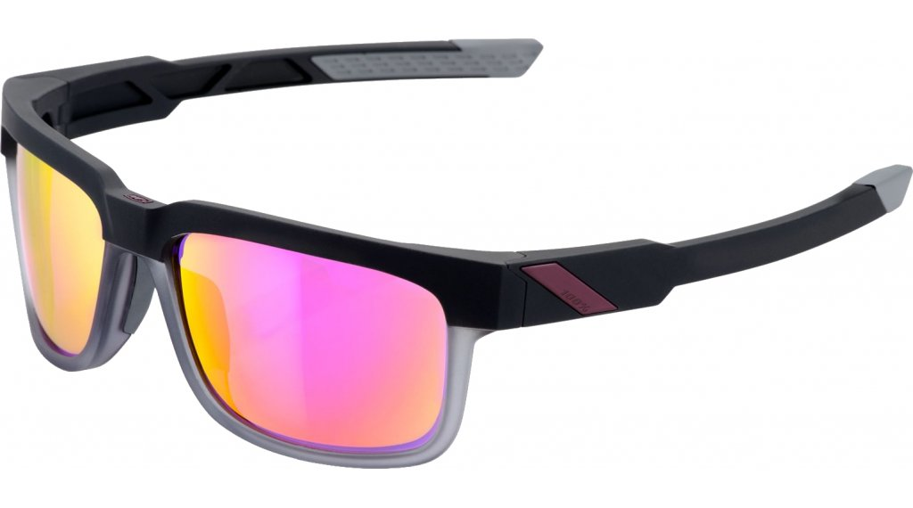 100% Type S Sonnenbrille soft tact graphite (Mirror-lens)