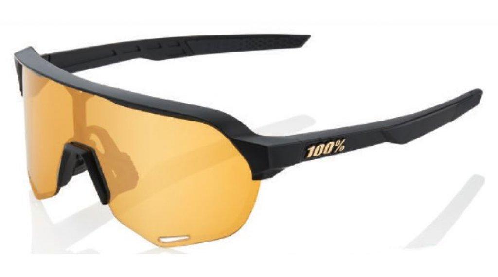 100% S2 Multilayer Occhiali da sole da ciclismo mis. unisize nero opaco (Mirror-lens)