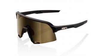 100% S3 Occhiali da sole da ciclismo mis. unisize soft tact nero (Mirror-lens)
