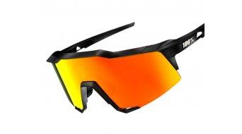100% Speedcraft HD Multilayer Sportbrille Gr. tall soft tact black (red Hiper-lens)