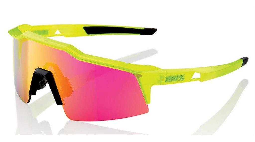 100% Speedcraft Sportbrille Gr. small acidulous (Mirror-lens)
