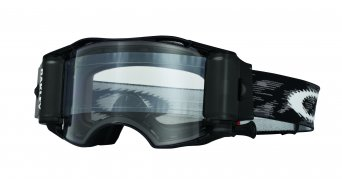 Oakley Airbrake MX Goggle mit Race-Ready Roll-Off-System jet black speed/clear