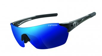 Tifosi Launch SFH glasses Frame:-gloss-black-Lens:-smoke/clarion-blue(shield)//smoke/clear(full-frame)//smoke/ac-red(half-frame)