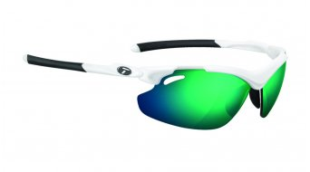 Tifosi Tyrant 2.0 glasses Frame:- mat-white-Lens:-clarion-green/ac-red/clear
