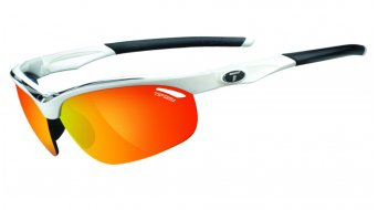 Tifosi Veloce glasses Frame:-white/black-Lens:-smoke-red/ac-red/clear