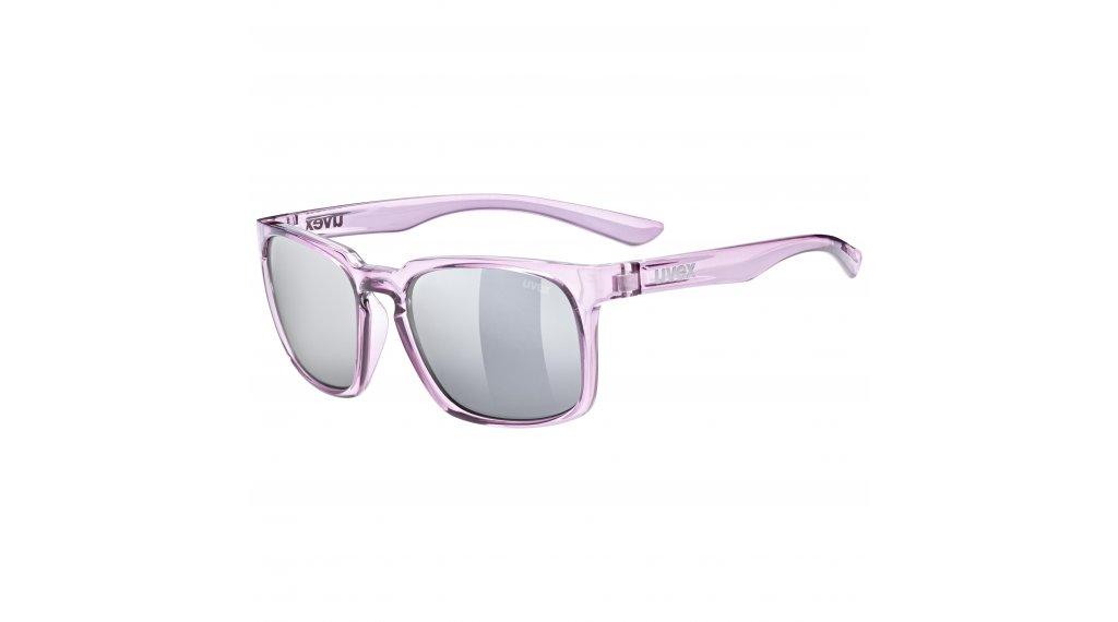 Uvex LGL 35 Lifestyle- occhiali berry/crystal//mirror argento (S3)