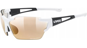 Uvex Sportstyle 803 Race Colorvision Variomatic Brille white/black matt//variomatic litemirror red (S1-S3)