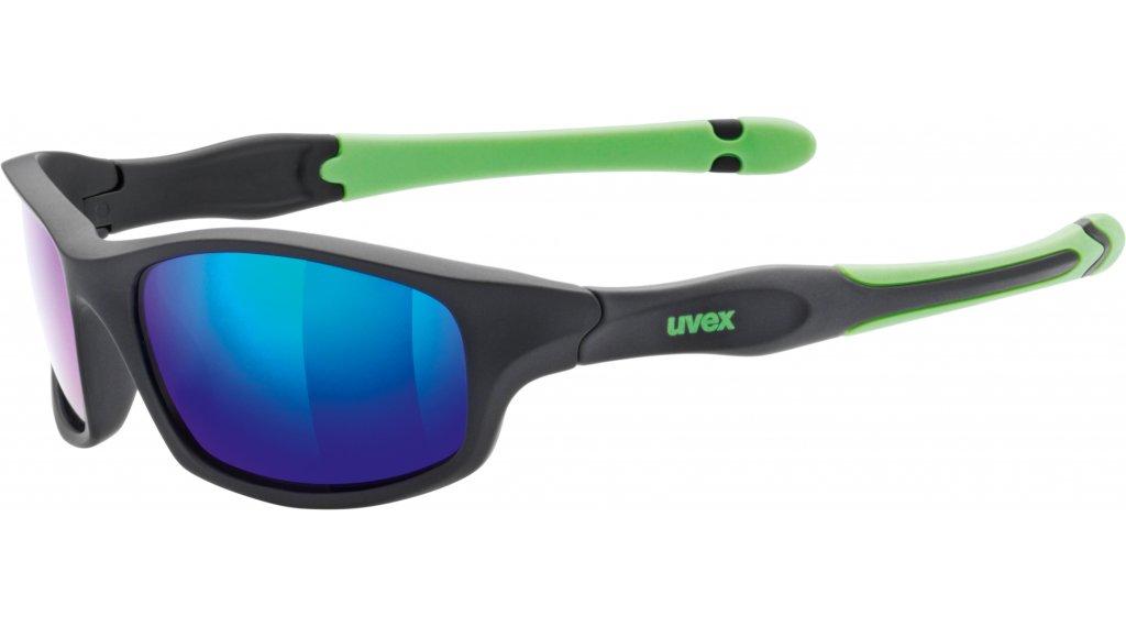 Uvex Sportstyle 507 Brille Kinder black matt/green//mirror green (S3)