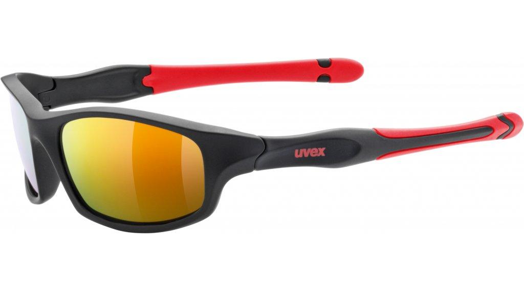 Uvex Sportstyle 507 Brille Kinder black matt/red//mirror red (S3)