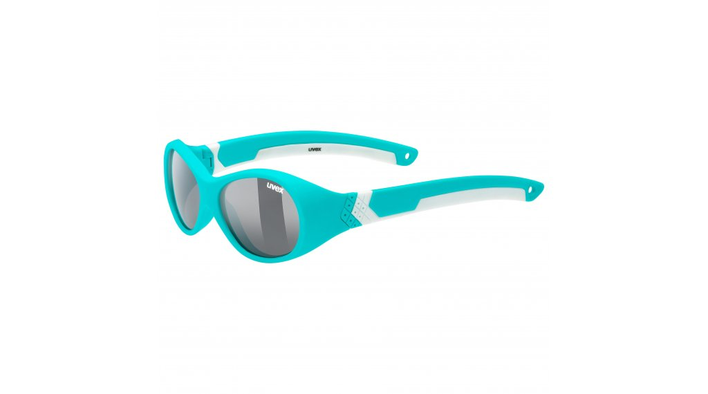 Uvex Sportstyle 510 Kinder-Brille turquoise/white //smoke (S3)