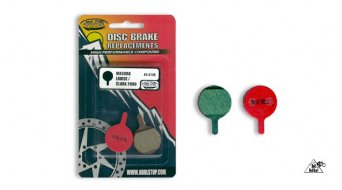 Kool-Stop disc-brake pads for Magura Louise/Clara steel-rearplate/pad-organic