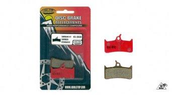 Kool-Stop Disc-Bremsbeläge für Shimano XT BR-M755, Hope M4 ab 2005 & Grimeca System 8 Stahl-Rückplatte/Belag-organisch D600