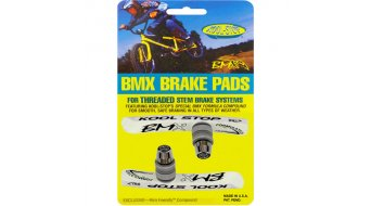 Kool-Stop BMX Pad brake shoes with thread, salmon, for 20 rim