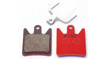 Kool-Stop disc-brake pads for Hope Moto V2 steel-rearplate/pad-organic D580
