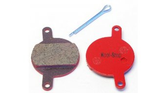 Kool-Stop disc-brake pads for Magura Julie steel-rearplate/pad-organic D130