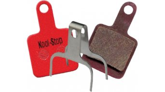 Kool-Stop disc-brake pads for TEKTRO AURIGA SUB,E-SUB,VOLANS,TWIN steel-rearplate/pad-organic D735
