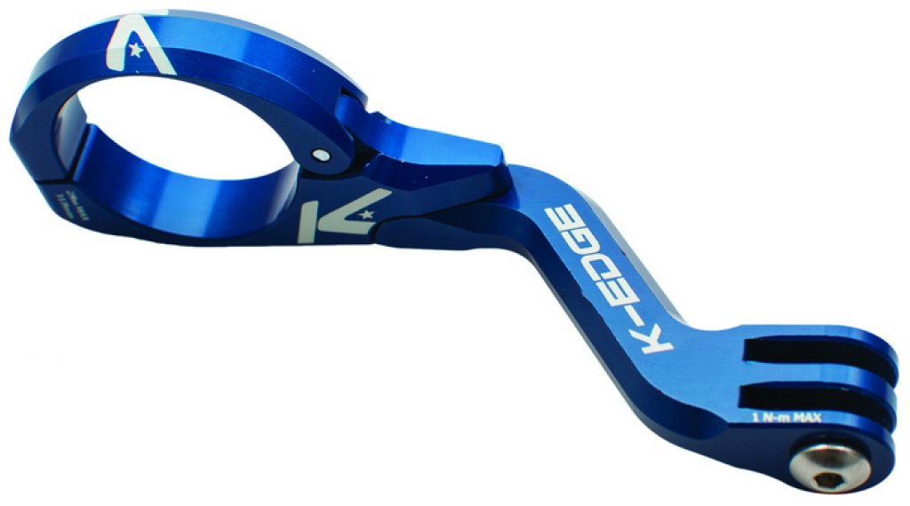 K-Edge K13-1440 Go Big On-Center Mount Lenkerhalterung 31.8mm blue