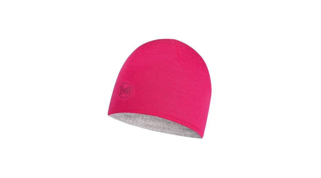 6227126a9 Buff® Lightweight Merino Wool Reversible Hat Junior Kinder Wendemütze  (Conditions: Cool) black - grey