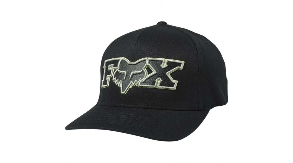 Fox Ellipsoid Flexfit Kappe Herren Gr. S/M black/green